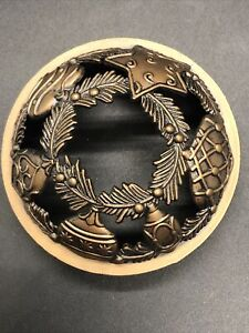 HTF Yankee Candle Illuma Lid Jar Topper Bronze Star/ornament/Heart-leaf
