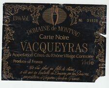 Wine label good cotes du rhone Domaine de montvac vacqueyras