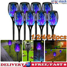More details for 1-8x solar flame torch light waterproof flickering dancing path garden lamp uk