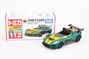 Takara Tomy Tomica #112 Lotus 3-Eleven Scale 1/59 Green Limited Diecast Toy Car
