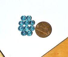 Aqua Aura 6mm x 4mm Faceted Rondelle Quartz Beads 1 lot 10 beads