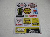 Sticker Aufkleber Bogen Tuning Autosport Race Motorradsport Biker GT Motorsport