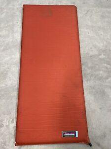 "THERMAREST SLEEPING PAD 20"" x 47"" Orange Self Inflating w/ Original Storage Bag"