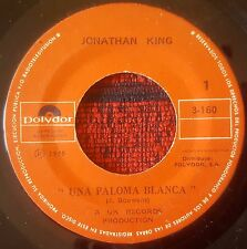 "JONATHAN KING *Una Paloma Blanca* JULIE *I'm Not Liza* VENEZUELA 7"" Single 1975"