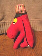 Vintage Dream Pets Dakin rot schwarz Sherlock Holmes Plüsch 1975