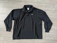 LACOSTE black POLO SHIRT long sleeve XL (7)