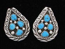 Navajo Indian Earrings 50% off Turquoise Post Sterling Silver Tiffany Jones