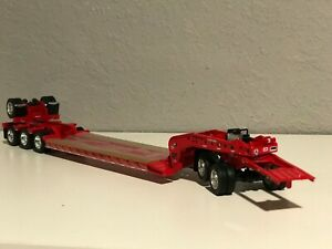 NEW DCP Red 1/64 Fontaine Lowboy w/ Detachable Goose Jeep & 4th Flip