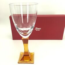 Moser Wine Glass Signed Lancelot Goblet 12.5 Oz Handmade Crystal Topaz Color