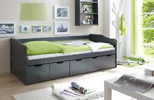 Sofabett Funktionsbett mit Schubkasten Maria Kiefer massiv Grau