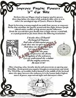 Psychic Energy & Vision Spell Ritual 1 pg Wicca Pagan Book of Shadows Witchcraft