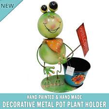 NEW Frog Garden Pot Plant Metal Decor Statue Ornament Figurine Outdoor Indoor