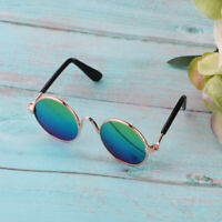1/6 Metal Gold Round Frame Sun Glasses for Blythe Doll Toy Dress Up Decor B