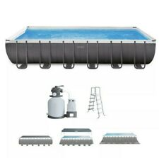 Intex 24ft X 12ft X 52in Ultra XTR Rectangular Pool + Sand Filter, Ladder, Cover