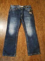 New Machine Blue Denim Jeans Men's Size 38/34 Machine Wash NWT BOOT CUT
