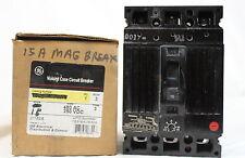 General Electric TEC 36015 Circuit Breaker 15A 480V 3 Pole Adjustable Trip *NEW*