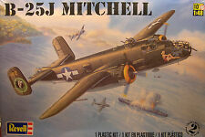 WWII B-25J MITCHELL 2 ENGINE BOMBER 1:48 SCALE REVELL PLASTIC MODEL AIRPLANE KIT