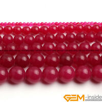 "Plum Jade Gemstone Round Beads For Jewelry Making 15""4mm 6mm 8mm 10mm 12mm 14mm"