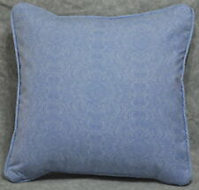 "Pillow made w Ralph Lauren Putney Tonal French Blue Paisley Fabric 16"" trim cord"