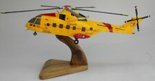 EH-101 Merlin Canada AF Westland EH101 Helicopter Wood Model Replica Small New