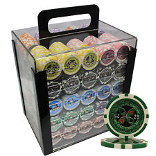 1000pcs 14G ULTIMATE CASINO CLAY POKER CHIPS SET CUSTOM BUILD
