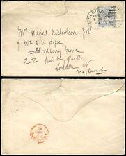 Australia-Victoria 1889 per GB... 6D solo franking