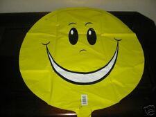 Smiley Face Yellow Foil Mylar Balloon ~ NEW ~