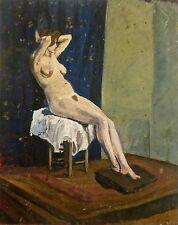 Gaston Durel (1879-1954) huile personnage post impressionnisme