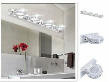 LED Crystal Makeup Mirror Light Stainless Steel Wall Mounted Lamp For Bathroom