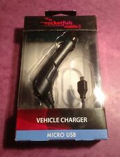 Rocketfish Universal Micro USB In Car MP3 Tablet eReader Charger Brand New Boxed