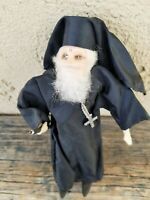 VINTAGE HANDCRAFTED ORTHODOX RELIGIOUS PRIEST DOLL CLOTH DOLL, GREEK or RUSSIAN