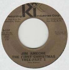 JIM AMECHE 45 THE FIRST CHRISTMAS TREE PART 1 B/W PART 2 EX RIC 137