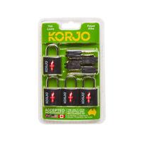 Korjo TSALL4 TSA Keyed Locks 4 Pack - Black - RRP $22.72