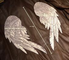 inspired by WALKING DEAD Daryl's Vest FINE-DETAILs NEW DESIGN SILVER ANGEL WINGS