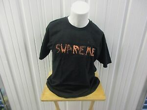 "VINTAGE SUPREME ""SEX MACHINE""  S/S 2013 XL BLACK T-SHIRT PREOWNED"