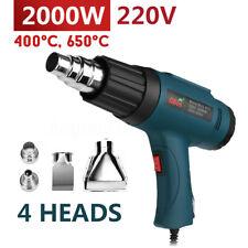220V 2000W Electric Hot Air Heat Gun 400/650°C Temperature+ 4 Nozzles Power Tool