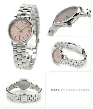 NEW MARC JACOBS BAKER SILVER TONE S/STEEL,MAUVE,PINK DIAL,MINI WATCH MBM3283