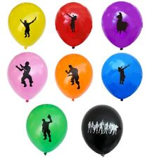 8 x Fort Nite latex balloons + 1x foil Battle Royale fortnight game on loot drop