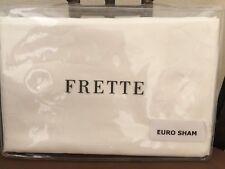 "Frette Euro Continental Pillow Sham Italy Penelope3 Ivory 26x26"" Fine Linen New"
