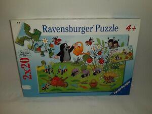 2 x 20 Pieces Puzzle - the Mole IN The Garden - Ravensburger