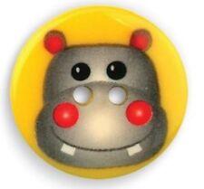 25mm Critter Hippo Button