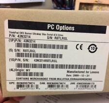 Genuine ThinkPad 43N3214 DVD Burner Ultrabay Slim Serial ATA Drive SEALED BOX