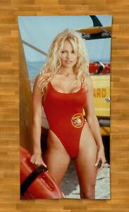 """Pamela Anderson Towel Beach 55"""" Summer Bath Pool Gym Playboy Baywatch"""