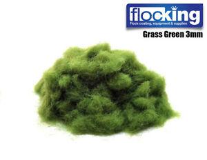 SCENERY FLOCK 3MM 10G   GRASS GREEN BASING   HORDES & HEROS   WORLD WAR SCENIC