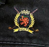 33 Navy Blue Tommy Hilfiger Golf Shorts Vintage Pleated Men's Crest Emblem 90's
