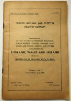 London Midland & Scottish Railway Company 1938 Claims Procedure