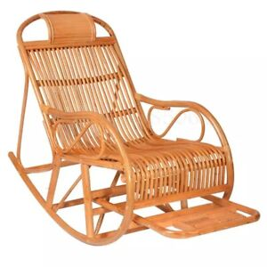 Rattan rocking chair outdoor garden furniture armrest Lounger Relaxing Massager