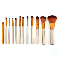 12pcs Makeup Cosmetic Brushes Set kit Powder Foundation Eyeshadow Lip Brush Tool