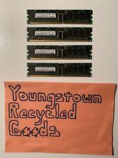 LOT OF 4 SAMSUNG M312L6523CZ3-CB3 512MB DDR PC2700R DDR-333 64X8 9CHIPS