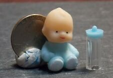 Dollhouse Miniature Blue Baby sitting & Bottle  1:12   One Inch Scale D59 C75